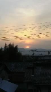 奈良の朝!